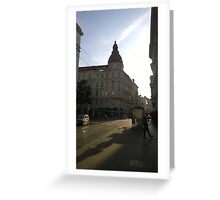 Vienna Sunset Greeting Card