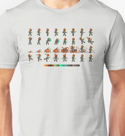 Pixel Pumpkin Head Unisex T-Shirt