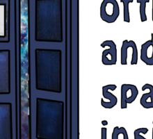 A world of time and space inside a funny blue box... Sticker