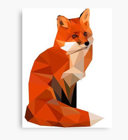 Low poly fox Canvas Print