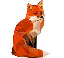Low poly fox Photographic Print