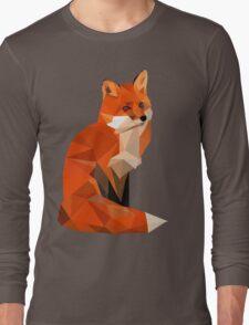 Low poly fox Long Sleeve T-Shirt