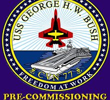 PCU George H.W. Bush Crest for Dark Colors by Spacestuffplus