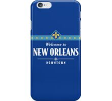 Welcome to New Orleans Downtown Street Sign iPhone Case/Skin
