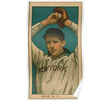 Benjamin K Edwards Collection Larry Doyle New York Giants baseball card portrait 004 Poster