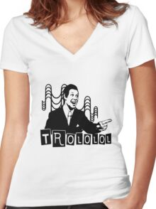 Trololo  Women's Fitted V-Neck T-Shirt