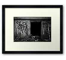 A Decaying Foundation Framed Print