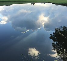 Water Reflection of the Sky by Cjazzy23