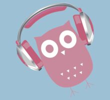 Owl be listening to music! Kids Clothes