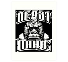 Beast Mode Gym Fitness Sports Art Print