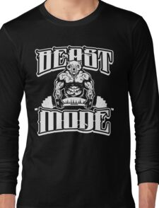 Beast Mode Gym Fitness Sports Long Sleeve T-Shirt