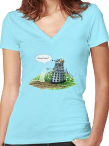 Germinate! Women's Fitted V-Neck T-Shirt