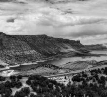 Utah - Flaming Gorge 001 BW Sticker
