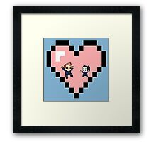 """Love in 8-bit"": Jeff and Annie (Style D) Framed Print"