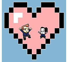 """Love in 8-bit"": Jeff and Annie (Style D) Photographic Print"