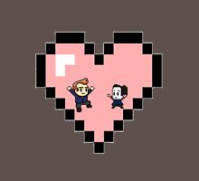 """Love in 8-bit"": Jeff and Annie (Style D) Unisex T-Shirt"
