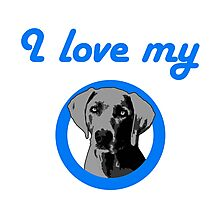 I love my Weimaraner! Photographic Print