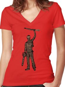 Army Of Darkness Ash Quotes Women's Fitted V-Neck T-Shirt