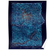 USGS Topo Map Washington State WA Mt Rainier 242671 1928 125000 Inverted Poster