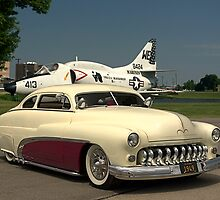 1949 Mercury Custom Low Rider and the Marines A-4L Skyhawk by TeeMack
