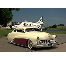 1949 Mercury Custom Low Rider and the Marines A-4L Skyhawk Photographic Print