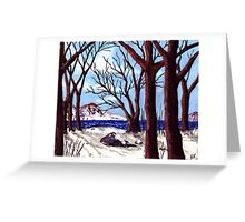 Northern Landscape oil painting  Greeting Card