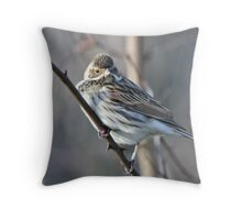 Reed Bunting Throw Pillow