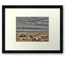 Beach HDR Framed Print