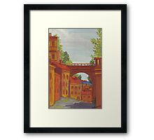 Old Odessa City oil painting Framed Print