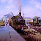 GWR 1474 at the station by Mike Jeffries