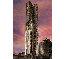 Eight Spruce Street, Gehry's New York Skyscaper Photographic Print