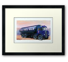AEC Mammoth Major Fina Fuels Framed Print