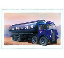 AEC Mammoth Major Fina Fuels Photographic Print