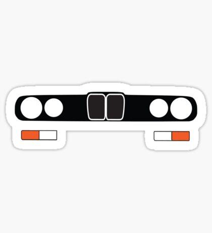 E28 simple headlight and grill design Sticker