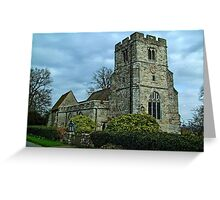 St Peter and St Paul, East Sutton Greeting Card
