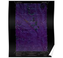 USGS Topo Map Washington State WA Mt Barney 242616 1969 24000 Inverted Poster