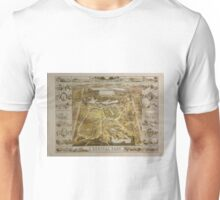 Vintage Central Park NYC Pictorial Map (1863) Unisex T-Shirt