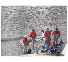 Enjoying Massage and Music at the Beach - Disfrutando Masaje y Musica en La Playa Poster