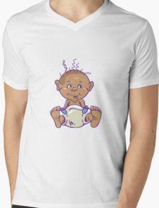 Cute Baby in Diaper Mens V-Neck T-Shirt
