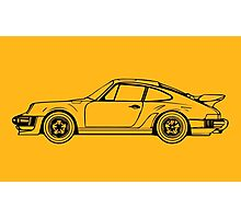 Classic Sports Car Outline Photographic Print