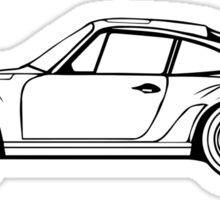 Classic Sports Car Outline Sticker