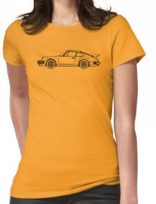 Classic Sports Car Outline Womens Fitted T-Shirt