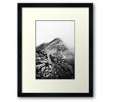 Golm (Alps, Austria) #17 B&W Framed Print