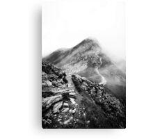Golm (Alps, Austria) #17 B&W Canvas Print