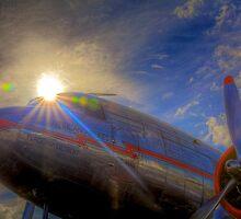 Into the Sun -- Vintage DC-3 by njordphoto
