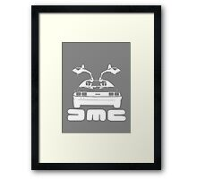 DeLorean DMC NEGATIVE Framed Print