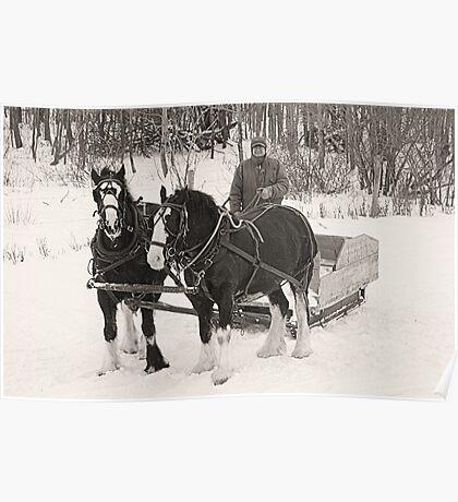 Christmas Sleigh Ride Poster