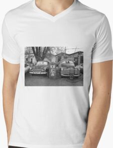 Route 66 - Snow Cap Drive-In Mens V-Neck T-Shirt