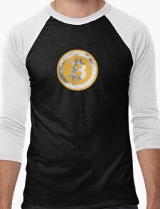 Bitcoin To Da Moon Men's Baseball ¾ T-Shirt