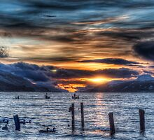 Sun going down over Loch Ness by Fraser Ross